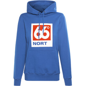 66° North Logn Box Logo Hoodie Unisex Dark Sky Blue